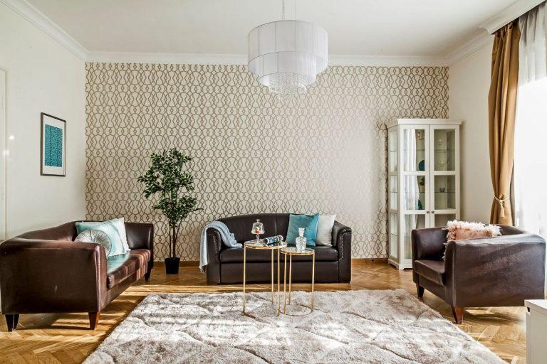 Belvárosi homestaging világos nappali